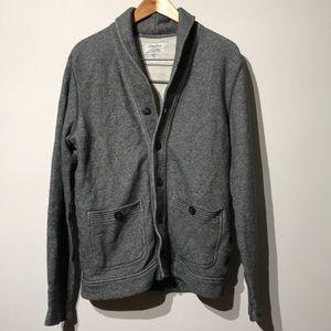 Lucky Brand Grey Label Knit Cardigan Sweatshirt